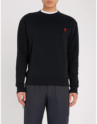Ami de Coeur embroidered cotton-jersey sweatshirt