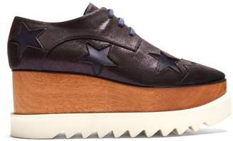 Stella McCartney Elyse lace-up glitter-effect platform shoes