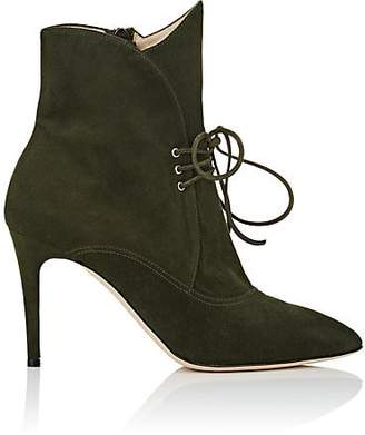 Zac Posen Women's Kiki Suede Ankle Boots - Green