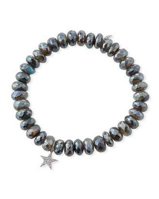 Sydney Evan Labradorite Rondelle Bracelet w/ Diamond Star