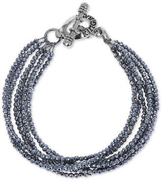 King Baby Studio Women's Hematite Multi-Strand Bracelet in Sterling Silver