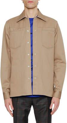 Lanvin Men's Patch-Pocket Shirt Jacket