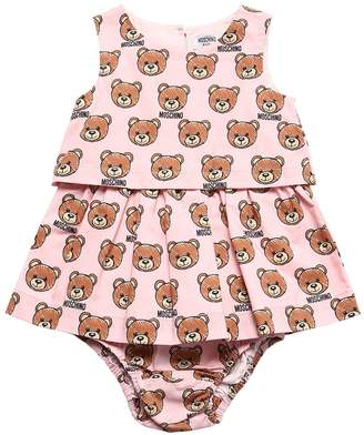 Moschino Cotton Poplin Dress & Diaper Cover