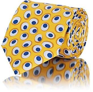 Barneys New York Men's Overlapping-Oval Silk Faille Necktie - Yellow