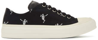 Alexander McQueen Black Dancing Skeleton Sneakers