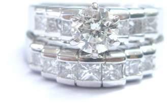 14K White Gold 1.50ct. Diamond Engagement Wedding Ring Set