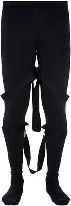 Burberry Strap-Detailed Stretch-Jersey Leggings