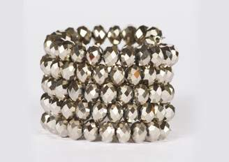 Kenneth Jay Lane Faceted Coil Bracelet (