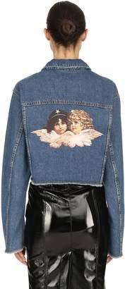 Fiorucci Berty Cotton Denim Jacket W/ Back Patch