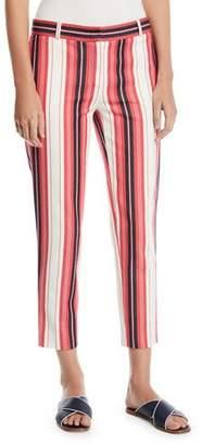 Loro Piana Striped Cotton Skinny Cropped Pants