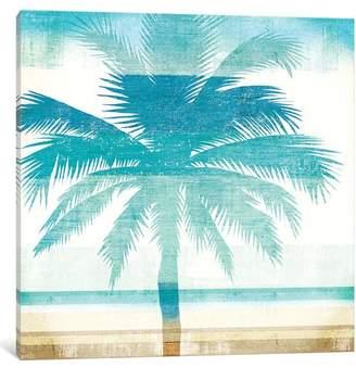 East Urban Home 'Beachscape Palms II' Graphic Art Print on Canvas
