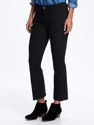Old Navy Black Flare Ankle Mid-Rise Jeans for Women