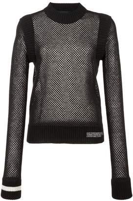 Calvin Klein open-knit sweater