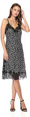 Rebecca Taylor Women's Sleeveless Floral Printed Slip Dress