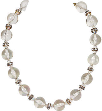 One Kings Lane Vintage Chanel Lucite & Crystal Choker Necklace