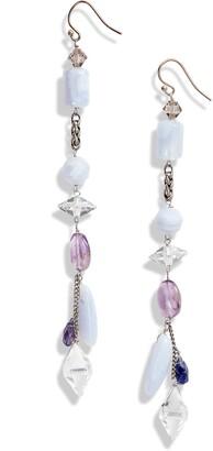 Cynthia Desser Blue Lace Agate Linear Earrings
