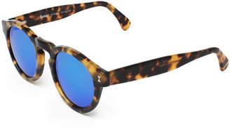 Illesteva Leonard Round Mirrored Sunglasses