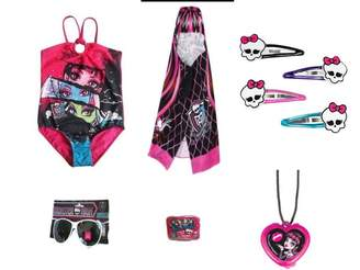 Mattel Monster High Swimsuit, Towel and Accessories Set