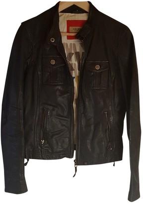 Oakwood Navy Leather Leather Jacket for Women