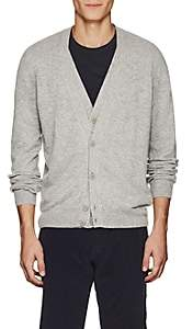 Tomas Maier MEN'S WOOL DOUBLE-LAYERED V-NECK CARDIGAN-LIGHT GRAY SIZE M