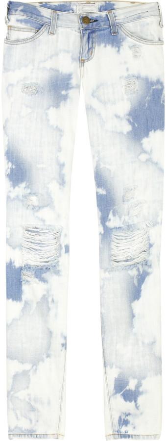 Current/Elliott The Skinny tie-dye jeans