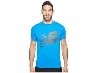 New Balance Accelerate Short Sleeve Graphic Top Men's Clothing
