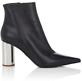 Proenza Schouler Women's Mirrored-Heel Leather Ankle Boots-Black