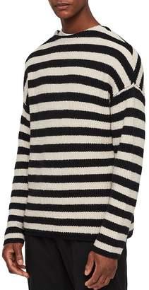 AllSaints Luca Striped Crewneck Sweater