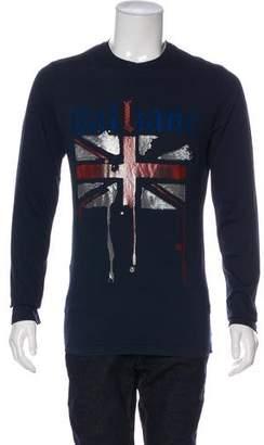 Galliano Graphic Long Sleeve Shirt w/ Tags