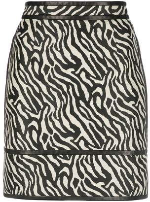 DSQUARED2 zebra print skirt