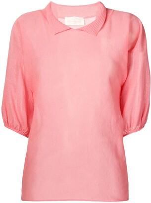 Chiara Bertani short sleeved knitted top