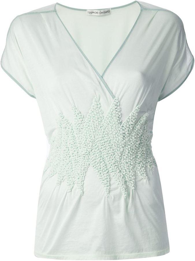 Tsumori Chisato embroidered sheer top