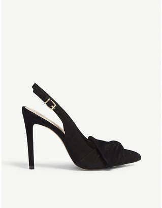Aldo Separation bow detail leather pumps