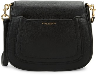 Marc Jacobs Pebbled Leather Saddle Crossbody Bag