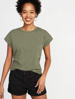 Old Navy Relaxed Dolman-Sleeve Striped Tee for Women