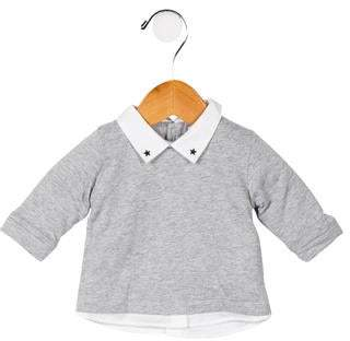 Givenchy Girls' Collared Long Sleeve Top w/ Tags