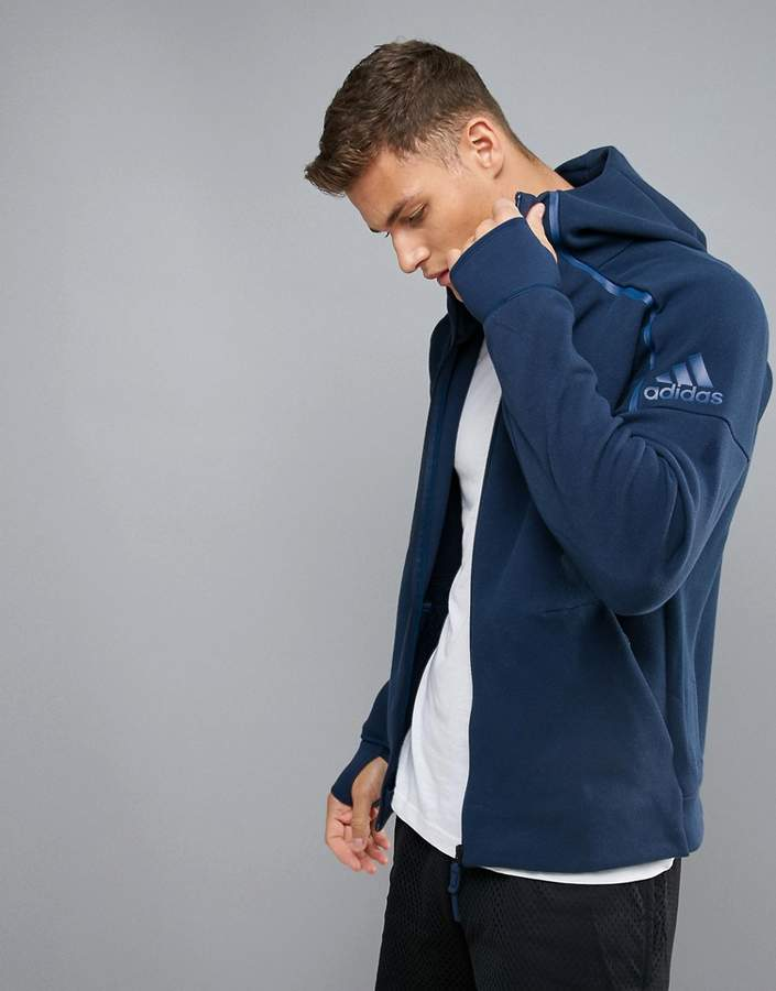 Adidas adidas Training ZNE Hoodie In Blue S94806