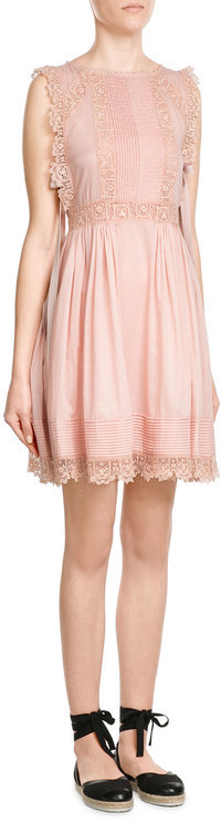 RED Valentino R.E.D. Valentino Cotton Dress with Embroidery