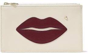 Charlotte Olympia Embellished Textured-Leather Pouch