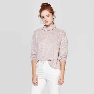 Universal Thread Women's Long Sleeve Mock Turtleneck Snit Sweatshirt - Universal ThreadTM