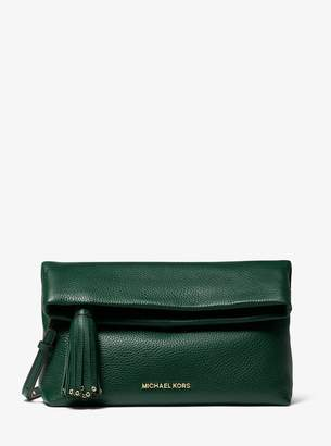 MICHAEL Michael Kors Brooklyn Pebbled Leather Fold-Over Clutch