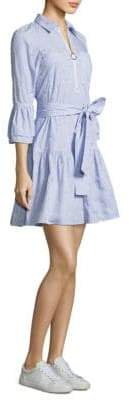 Derek Lam Belted Ruffle Shirtdress
