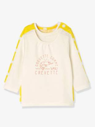 Baby Girls' Pack of 2 Long-Sleeved T-Shirts - orange bright 2 color/multicol