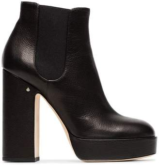 Laurence Dacade black Rosa 120 leather platform boots