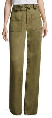 Rebecca Taylor High-Rise Twill Pants