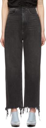 Alexander Wang Grey Split Jeans