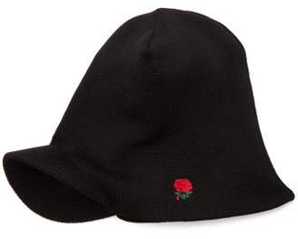 Undercover Rose Embroidered Beanie Cap - Mens - Black