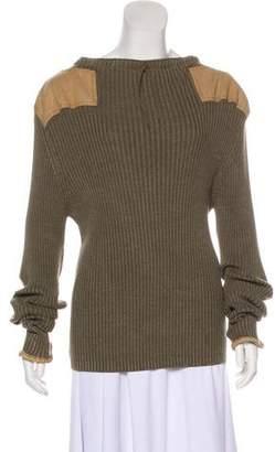 Maison Margiela 2017 Paneled Wool-Blend Sweater