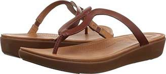 FitFlop Women's STRATA Toe-Thong Sandals-Leather Flip-Flop