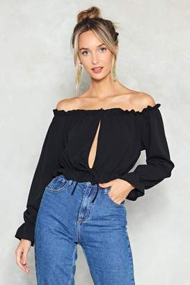 Nasty Gal Get the Hole Picture Off-the-Shoulder Top